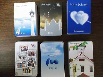 "6 Different SUPERB PACKS of ""China Airlines"" Playing Cards #b"