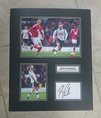 Johnny Russell - Derby County Fc - Huge Signed Photo Montage