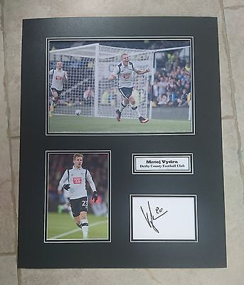 Matej Vydra - Derby County Fc - Huge Signed Photo Montage