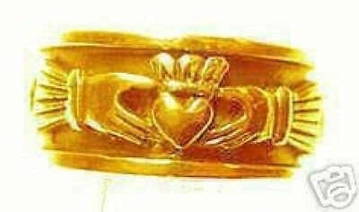 LOOK Gold Plated Celtic knot Claddagh Infinity Ring Silver