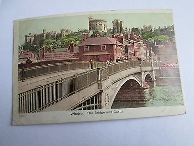 Postcard of Windsor, the Bridge and Castle (posted 1904)