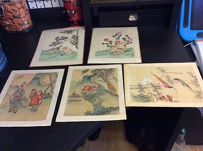oriental pictures paintings/drawing/prints x6