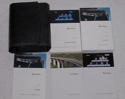2014 Lexus RX 350 450H Owners Manual And Navigation Book And Case