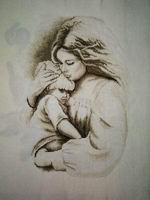 New Finished Completed Cross Stitch - Maternal love - P193a -14CT