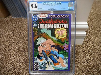 Deathstroke the Terminator 15 cgc 9.6 1st appearance Rose Wilson RAVAGER DC 1992