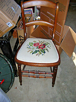 Antique Sweet  Chair Embroidered Upholstery Seat