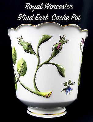 Stunning Royal Worcester Raised Blind Earl Cache Pot