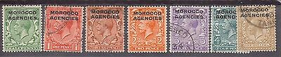 Morocco Agencies:1914:7 Stamps Mint & Used Some Imperfections.C,£29+