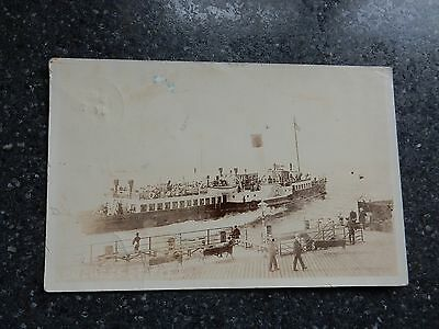 1905 fr real photo postcard - Duchess of Fife paddle steamer - Ferry / Shipping