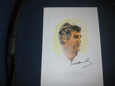 A4 Signed Print/drawing Of Mike Brearley Middlesex Ccc/england