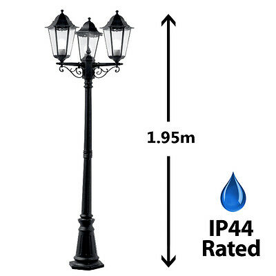 Victorian Style Triple Head Outdoor Garden Light Lamp Post Lamppost Lantern NEW
