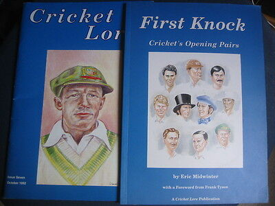 2  X Cricket Lore Publications Inc 1St Knocks [Opening Pairs] And No 7 1992