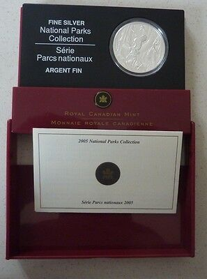 2005 Canada Silver Proof 5 Dollars  - National Parks - Boxed With Coa