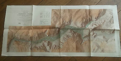 1949, Map of the Yosemite Valley, With Text Verso, US Geological Survey