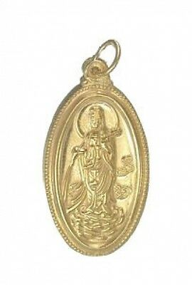 LOOK Wholesale 5 pieces QUAN YIN BUDDHA GOLD PLATED Charm