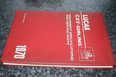 Vintage Lucas Equipment and Service Parts Reference Book Catalogue 1970