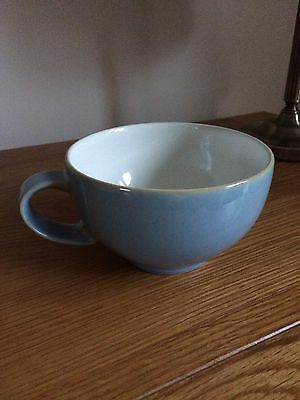 Denby Blue Jetty Large White Tea Cup