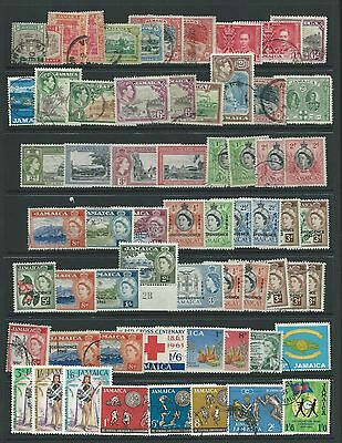 Jamaica 123 Stamps Mint And Used.