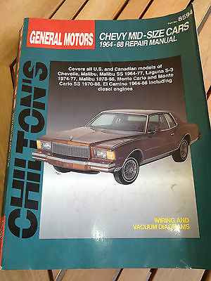 CHILTONS CHEVY MID-SIZE CARS 1964-88 Repair Manual