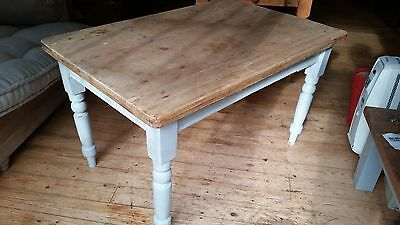 Victorian Pine Table - see pictures 71cm high, 110cm long, 81cm wide