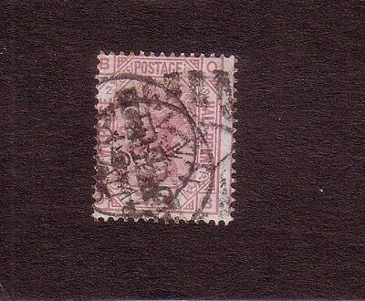 GB 1873 QV 2 1/2d ROSY MAUVE USED SG 139