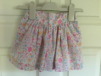 Next Girls Pink Floral Culottes / Shorts - Size: 12-18 Months