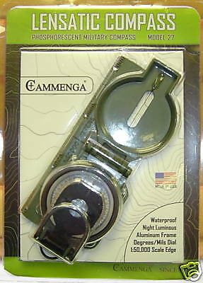 Cammenga Lensatic Compass & Pouch Army Military 27Cs Camping Hunting Hiking New