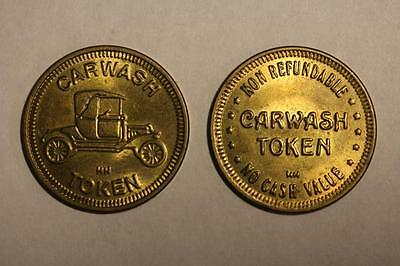 2 Vintage Car Wash Token/coin--Non-Refundable--No Cash Value
