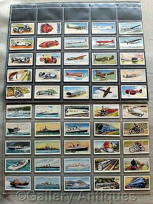 Wills FAMOUS INVENTIONS full COMPLETE SET of 50 CIGARETTE CARDS in sleeves 1915