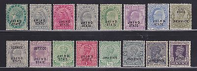 India Jind/Jhind State selection of Mint stamps