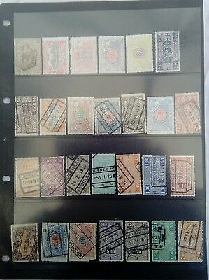 Stamps Belgium Railway Stamps Mm Used B