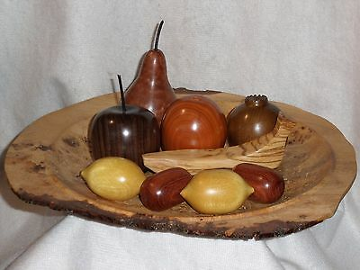 Decorative Wooden Fruit in Exotic Woods including Rosewood and Figured Mahogany