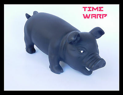 Snorting Squeeze Pig * Rare Black Version * Nwot * Collectible Pig Toy
