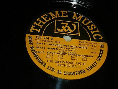 """COLLECTION Joblot 6x THEME MUSIC 10"""" 78RPM Gramophone Records 69/48"""