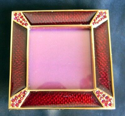 Jay Strongwater RUBY LELAND FRAME w/Crystals NEW