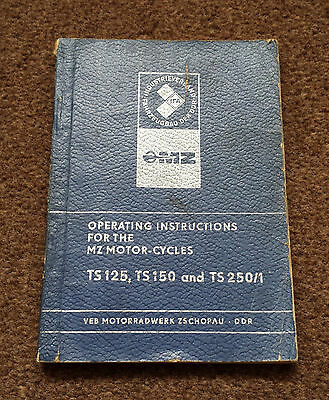 MZ TS125/150/250/1 Blue Operating Instructions Booklet
