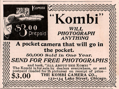 Ad Lot Of 3 Early Kombi Camera Ads