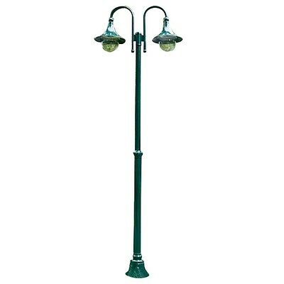 Outdoor Garden Green 2 Light Lamp Post Electric Street Lantern 220cm