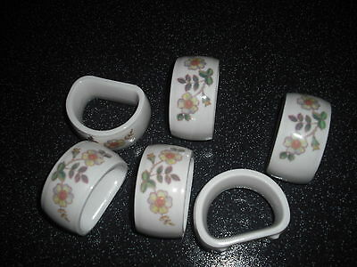 Set of 6  Marks and Spencers Autumn Leaves Napkin Rings