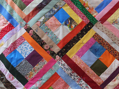 Vintage Hand Tied Jacob's Ladder Quilt