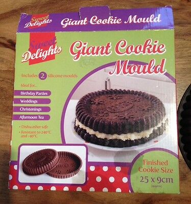SWEET DELIGHTS Giant Cookie Mould 25x9cm (only X1 Mould)