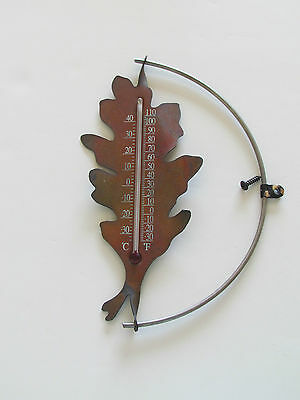 COPPER OAK LEAF Outdoor Thermometer