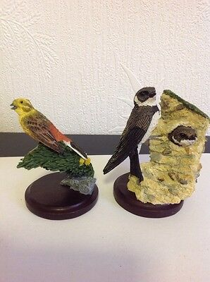 Two Hand Painted Bird Figurines Cbc Collection 2003