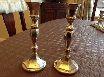 2 SILVER PLATED 19cm CANDLESTICKS BY PARKS LONDON