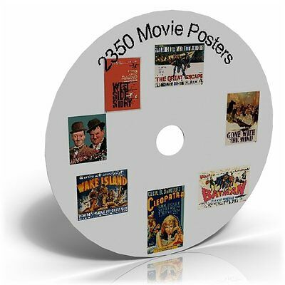 2350 Movie Posters On Cd, For Art Or For Clip Art