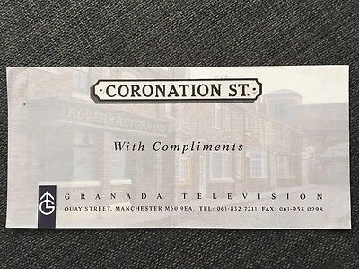 Coronation Street With Compliments slip early 1990's