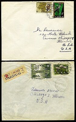 Congo Republic 2 covers circa 1960's one is Registered (BIRDS)