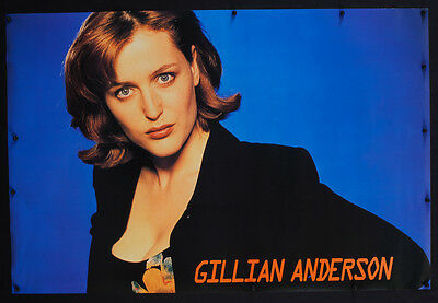 Rare Vintage X-Files Gillian Anderson Tv Show Promotional Poster - Uu-2