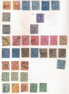 599 COLOMBIA  selection of stamps on  album leaf