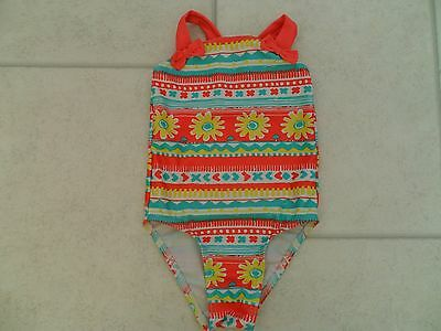 Pretty Girls George Patterned Swimsuit Age 18/24 Months VGC